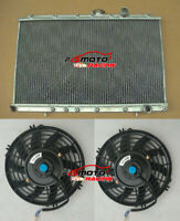 For Mitsubishi Lancer EVO 1 2 3 EVO I II III 1992-1995 MT Aluminum Radiator+FANS