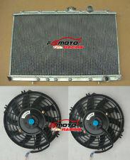 Aluminum Radiator+FANS for Mitsubishi Lancer EVO 1 2 3 EVO I II III 1992-1995 MT