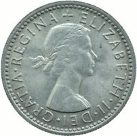 1964 SIXPENCE PRE-DECIMAL / ELIZABETH II. / UNCIRCULATED / FULL LUSTRE  #WT17610