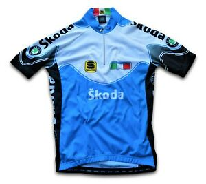 "RARE RETRO ITALY SPORTFUL ITALIAN TEAM CYCLING JERSEY TOP (LABEL: XS) 32"" CHEST"