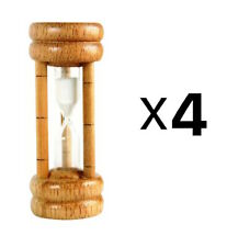 Harold Import 3 Minute Wood Sand Timer Kitchen Perfect Boiled Eggs (4-Pack)