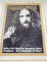 Vintage Rolling Stone Magazine 1971 Jethro Tull No Label Newspaper Style RS