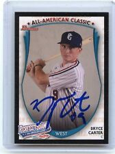 "2013 BOWMAN RAWLINGS PERFECT GAME #PG-BC BRYCE CARTER ""AFLAC"" AUTOGRAPH RC (A)"