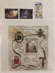 San Marino 2013 foglietto Francobolli Wagner San Francesco Giuseppe Verdi