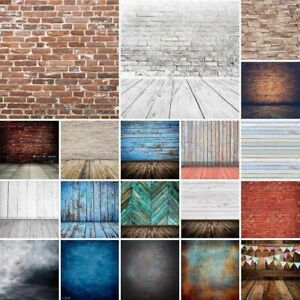 Photography Backdrops Vintage Brick Plank Background Wooden Floor Wall 5x7ft