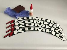 "KUMHO Permanent Tire Lettering  stickers  1.0""   15''16''17''18''19'20 (9 KIT)"