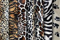 Animal Print Velboa Faux Fur - Quality Soft Velour Fabric