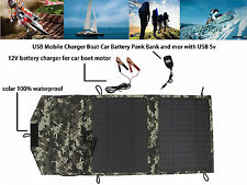12V 10W Solar Portable charger for boat car& outdoor usb phone hiking camping