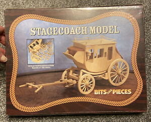 Wooden stagecoach model. New in cellophane wrapper