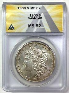 1900 Morgan Silver Dollar - VAM-14B - ANACS MS 62
