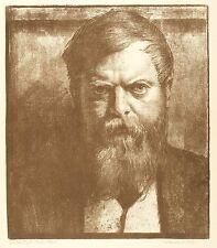 Theodor Fischer-effigie-Karl Bauer-LITOGRAFICO 1910