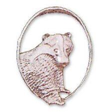 Badger oval pendant Sterling Silver