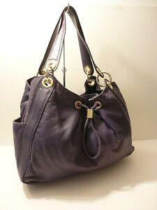 Michael Kors Purple Soft Leather Hobo Shoulder Bag Purse SOLD-AS-IS