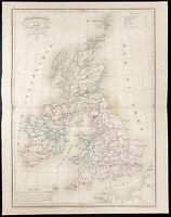 1878 - Mapa Islas Británicos - Por Carlos - Meissas Y Michelot