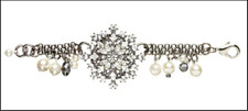 MIMCO 'Tuxedo Princess' BRACELET w/ flowers, pearls & beads.
