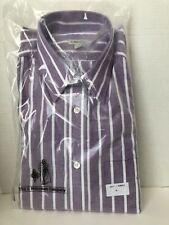 J Peterman Shirt Mens Size M Purple Long Sleeve Dress Shirt Medium Stripe 1817