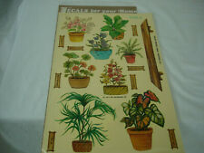 Vintage Decals By Meyercord Potted Plants Flowers Crafts Decal Stickers 70's Mod