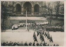 LAEKEN c. 1930 - Obsèques du Roi Albert Ier Belgique troupes Militaires- PRM 379