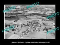 OLD LARGE HISTORIC PHOTO UFFINGTON OXFORDSHIRE ENGLAND TOWN AERIAL VIEW c1950 2