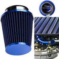 76mm/3inch INLET HIGH FLOW SHORT RAM/COLD INTAKE ROUND CONE AIR FILTER