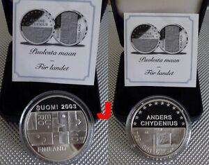 FINLANDE SUOMI 2003 10 EURO ANDERS CHYDENIUS