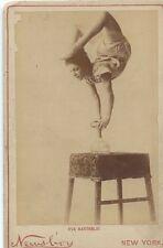 1890s CABINET CARD PHOTO EVA BARTHOLDI CIRCUS CONTORTIONIST PERFORMER