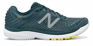 New Balance Men's 860v10 Shoes Blue with Blue & Yellow
