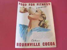 Cadburys Bournville Cocoa Original 1948 Full page Advertisement