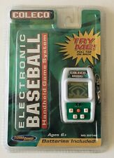 Coleco Electronic Baseball Handheld 2005 Game System W/ Keychain Belt Clip NEW