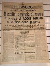 WW2-MUSSOLINI ANNUNCIA AL MONDO LA FINE DELLA GUERRA@ 06/MAGGIO/1936 R@RO