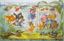 AQUARIUM Fish Breeding Sheet Stamps Czech Republic 2003 ** MNH