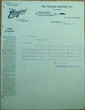 Bicycle 1897 Letterhead: Plugine, National Specialty, High Grade Cycle Sundries