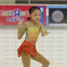 kids ice skating dresses girls competition figure skating clothing custom yike