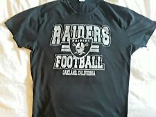 RAIDERS NFL Oakland California Used Black Graphic Tee Adult Large