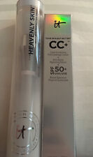 NWT IT Cosmetics FULL SIZE 1.08oz CC Cream SPF50 Medium + Heavenly SKin Brush