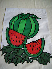 "WATERMELON GARDEN (DOUBLE SIDED) 12""X16"" POLE FLAG"