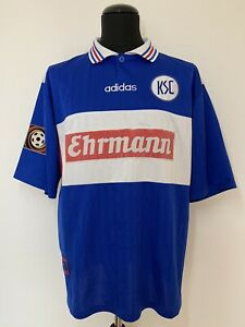 "Karlsruher SC Trikot/ 1997/98/ Hässler/ #10/ XL/ ""Ehrmann""/ KSC"