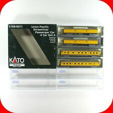 N Scale KATO 106-5011 UNION PACIFIC Passenger 4-Car Set A - UP Baggage / Sleeper