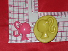 Barbie Girl Head Mold Food Silicone A528 Cake Chocolate Resin Polymer Clay