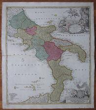 Homann: Map Kingdom of Napoli Italy - 1730