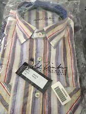 NEW Arnold Zimberg  Dress Shirt Multicolored/purple Striped Large