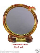 "5""Round Regular & Magnifying Foldable Cosmetic Table,Double Side Cosmetic Mirror"