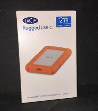 LaCie Rugged USB-C 2TB USB 3.0 EXTERNAL PORTABLE HARD DRIVE