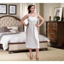 Satin Full length nightdress slip gown pjs plus size bridal white 8-24 uk Dress