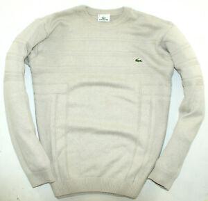 Lacoste Pullover Sweater Mit Wolle Beige Gr. M