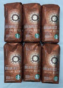 Starbucks Medium Roast Breakfast Blend Whole Bean Case 6/16oz, BB 24 March 2021