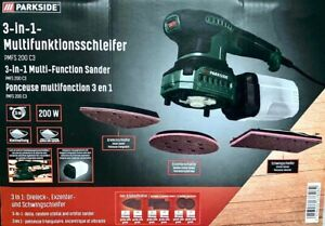 PARKSIDE PMFS 200 C3 Multifunktionsschleifer 3 in 1 Schleifer Schleifmaschine