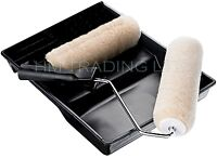 """9"""" HARRIS PAINT EMULTION ROLLER WITH TRAY + SPARE REFIL SLEEVE DIY"""