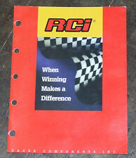 Racer Components Inc RCI  Texas USA  Dealer Catalog