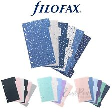 Filofax Dividers for Personal Organisers- Confetti Expressions Garden or Indigo